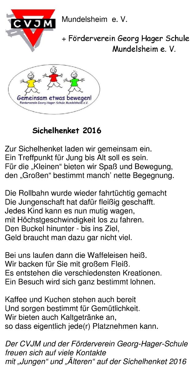 Sichelhenket 2016 Gedicht